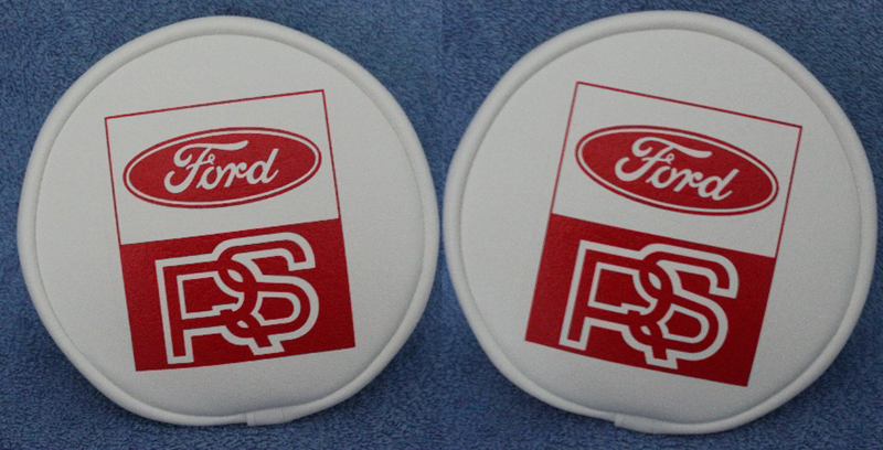 WHITE & RED FORD RS 6 INCH FOG SPOT LAMP SPOT LIGHT COVERS retro-racer-uk - Copy