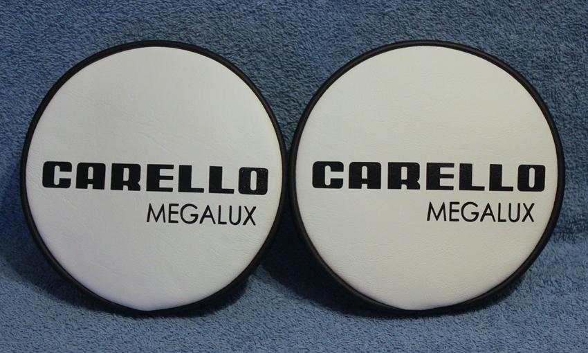 carello megalux rally spot fog lamp spotlight covers black & white fiat ford mk1 mk2 escort 6 7 8 9 inch retro-racer-uk