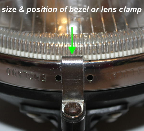 spot lamp lens clamp retro-racer-uk