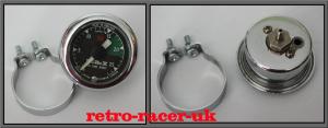 1960s 70s REDeX Car Care Robot Dashboard Accessory Vacuum Dial Gauge & Mounting Bracket retro-racer-uk