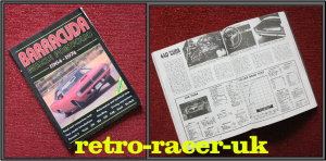 1964 - 1974 PLYMOUTH BARRACUDA MUSCLE CAR PORTFOLIO SOFT BACK BOOK 140 PAGES ISBN 185520259X retro-racer-uk 383 s 340 HEMI