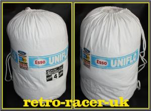 1972 FORD MK1 ESCORT RAC RALLY ESSO UNIFO DRAWSTRING DUFFEL KIT BAG HOLDALL ESSO BLUE ROGER CLARK TONY MASON retro-racer-uk