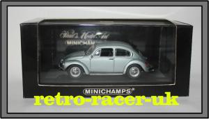 1972 to 1974 VW BEETLE 1303 1 43 SCALE DIECAST MODEL BLUE METALLIC 430055100 retro-racer-uk