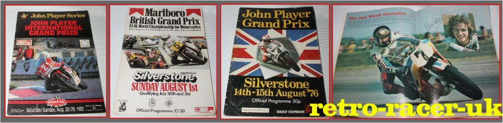 British Motorcycle Bike Grand Prix race day programme 1982 1976 Barry Sheene suzuki 7 John Player retro-racer-uk