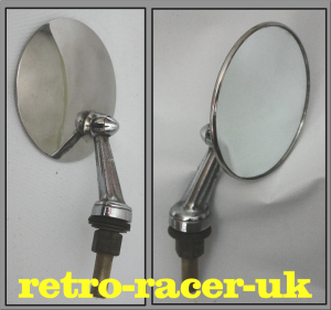 CLASSIC 1960s 70s MADE IN ENGLAND TEX VIEWMASTER ROUND 4 INCH WIDE LH RH WING MIRROR retro-racer-uk vw ford austin jaguar rover mg morris copy