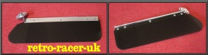 CLASSIC CAR PERSPEX SMOKED TINTED SUN VISOR POSSIBLY MADE BY AMCO FOR MG OR JAGUAR retro-racer-uk