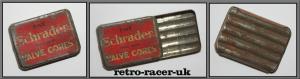 Original Vintage Schrader Spare Tyre Valve Cores Metal Tin Box retro-racer-uk
