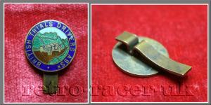 Vintage 1930s 1940s British Trials Drivers Association Cap, Button Hole, Lapel, Enamel Badge. Dellow trials car Lands End Trial retro-racer-uk