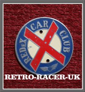 original 1960s 70s REDEX CAR CLUB RADIATOR GRILL BADGE FORD VAUXHALL LAND ROVER VW AUSTIN MORRIS JAGUAR retro-racer-uk